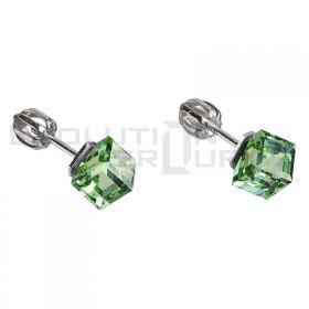Ohrringe mit Swarovski Elements 31030.3 peridot